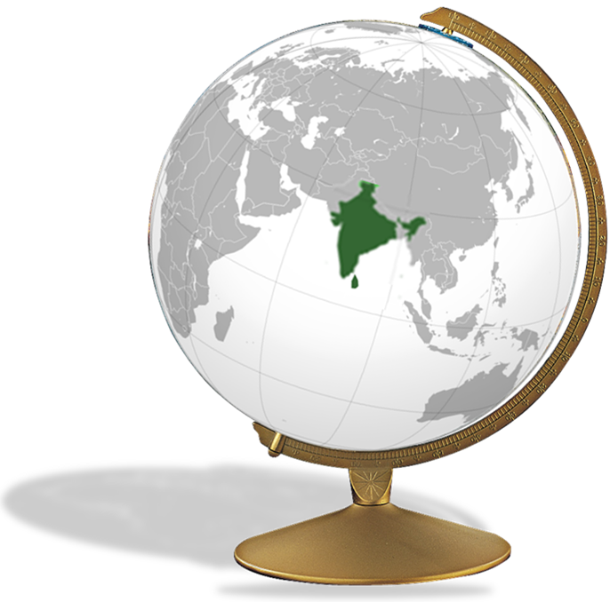 Subcontinent map