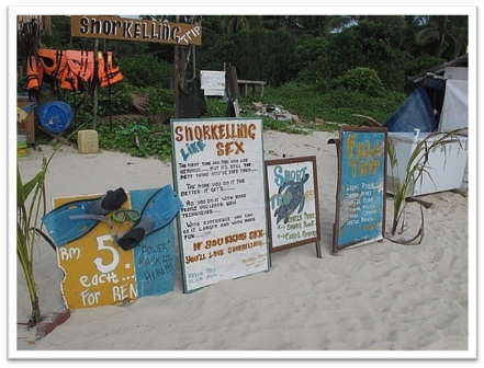 Snorkelling sign